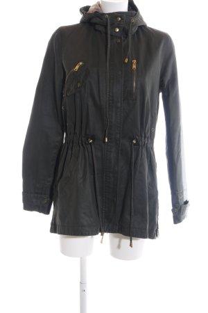 Zara Übergangsjacke schwarz Casual-Look