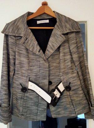 Zara Übergangsjacke in schwarz/weiß