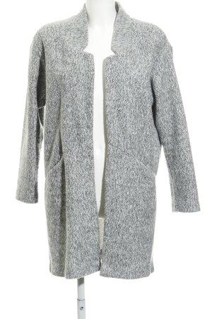 Zara Cappotto mezza stagione grigio-grigio chiaro puntinato stile casual
