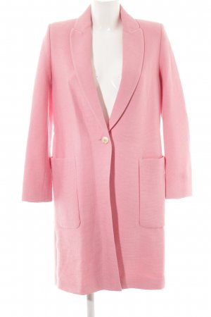 Zara Übergangsmantel rosa Streifenmuster Casual-Look