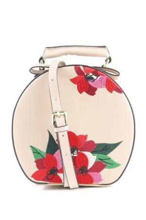 Zara Borsa a spalla rosa antico-rosso motivo floreale Stile Boho