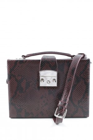 Zara Crossbody bag black-brown red animal pattern extravagant style