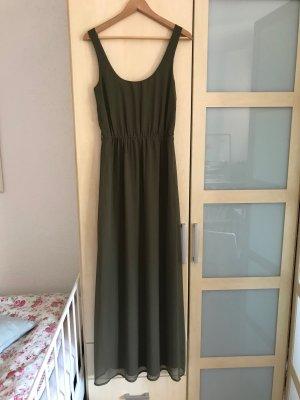 ZARA | ungetragenes Sommerkleid in Khaki mit Perlengürtel