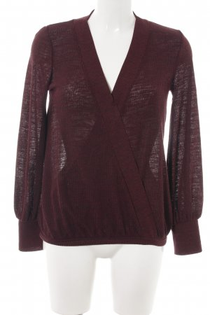 Zara V-Neck Sweater brown-red casual look