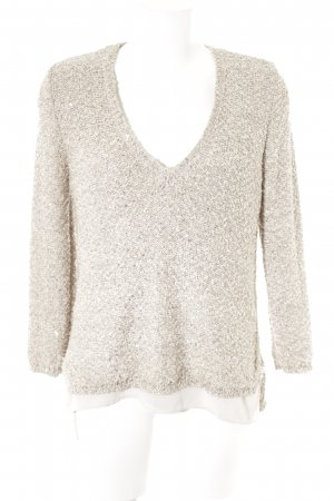 Zara V-Neck Sweater cream 2-in-1 look