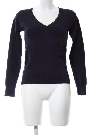 Zara V-Neck Sweater black casual look