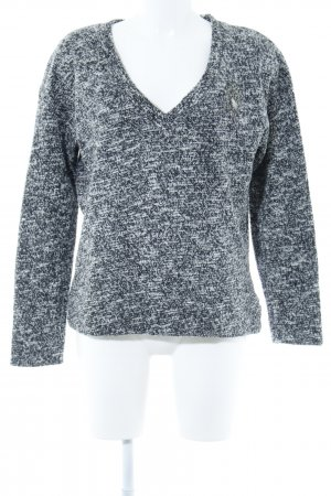 Zara V-Ausschnitt-Pullover meliert Casual-Look