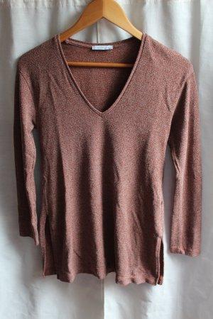 Zara V-Ausschnitt Pullover mit Cuts an den Seiten