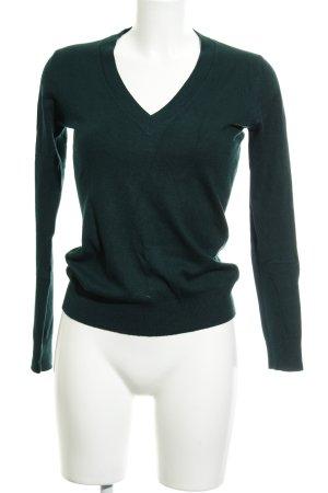 Zara V-Ausschnitt-Pullover petrol Casual-Look