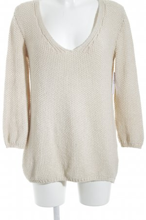 Zara V-Neck Sweater natural white street-fashion look