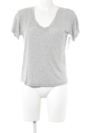 Zara V-Ausschnitt-Shirt hellgrau Casual-Look