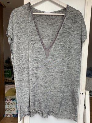 Zara Woman Oversized shirt lichtgrijs-zilver