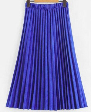 Zara Geplooide rok blauw