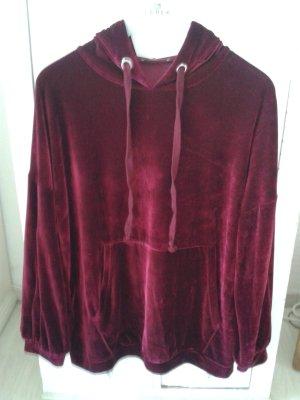 Zara Jersey con capucha púrpura