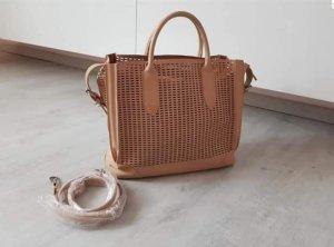 Zara Basic Borsa con manico beige