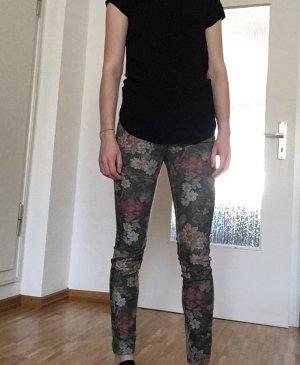 Zara Pantalon cigarette multicolore