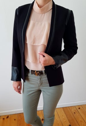 Zara Blouse à volants multicolore