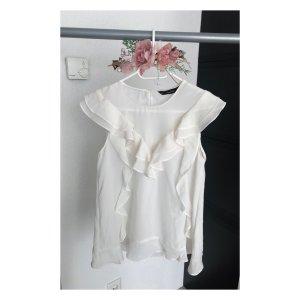 Zara Ruffled Blouse white-natural white