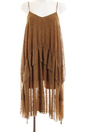 Zara Volante jurk licht Oranje casual uitstraling
