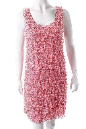 Zara Volantkleid rot-weiß gemustert
