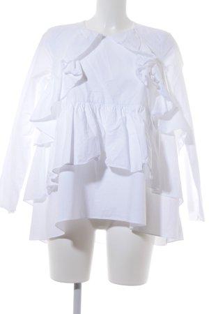 Zara Volantkleid weiß Elegant