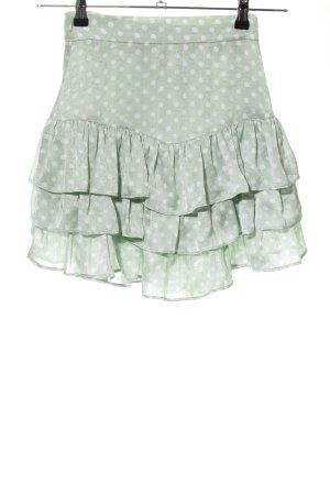 Zara Flounce Skirt khaki-natural white spot pattern casual look