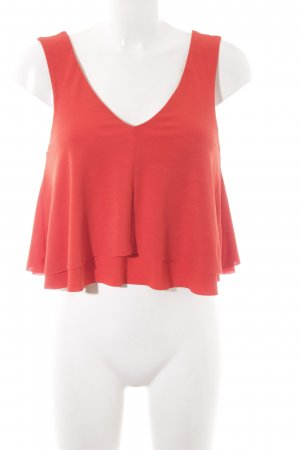 Zara Flounce Top bright red beach look