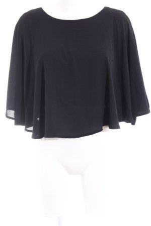 Zara Volanttop schwarz klassischer Stil