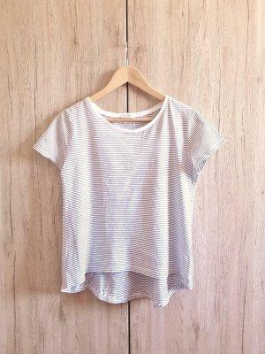 Zara W&B Collection Basic Casual Shirt schwarz weiß gestreift Gr. S