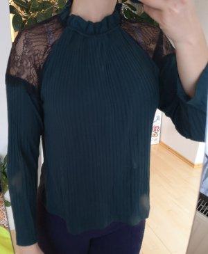 ZARA W&B Pullover mit Netz an den Schultern