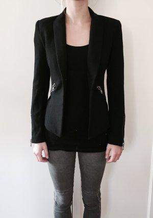 Zara Blazer noir-argenté