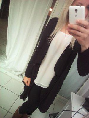 Zara Wasserfalljacke schwarz Cardigan Jäckchen