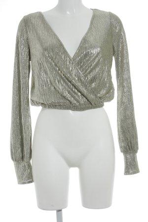 Zara Camisa con cuello caído color oro brillante