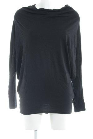 Zara Waterval shirt zwart casual uitstraling