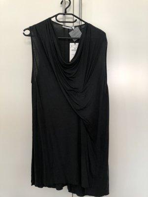 Zara Cowl-Neck Top dark grey
