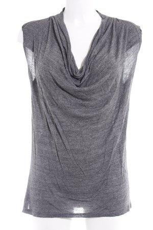 Zara Top collo ad anello antracite puntinato stile casual