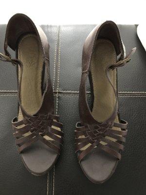 Zara Sandales brun noir