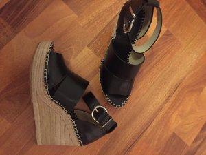 Zara Wedges Fesselriemen schwarz Blogger