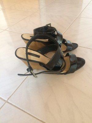 Zara Wedges Lacksandalen Sandaletten