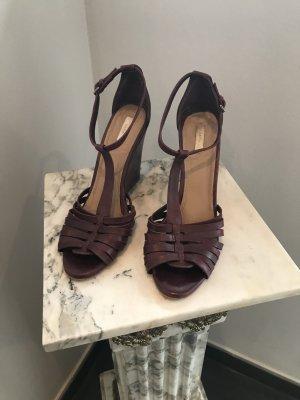 Zara Wedge Sandals bordeaux