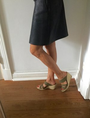 ZARA Wedges Sandaletten Bast khaki bequem schick bohemian 38 wie neu