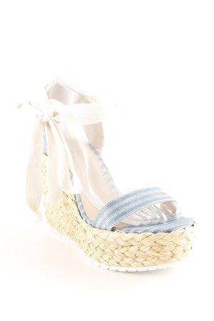 Zara Compensé bleuet-blanc motif rayé Look de plage