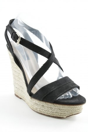 Zara Wedge Sandals black-beige elegant