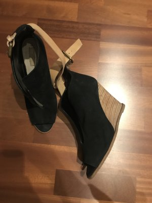Zara Wedges Wildleder