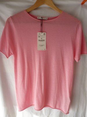 ZARA weiches Strickshirt in Rose, Gr. M