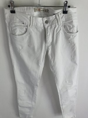 Zara Jeans blanc coton