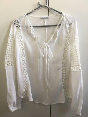 Zara weiße, leichte Bluse