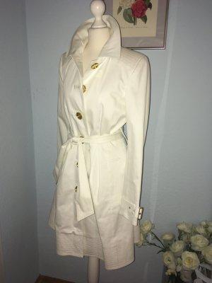 Zara weißer Trenchcoat, Größe S Baumwolle