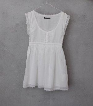 ZARA weißes Sommerkleid mit Spitze