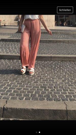 Zara Pantalone a vita alta salmone-rosso chiaro